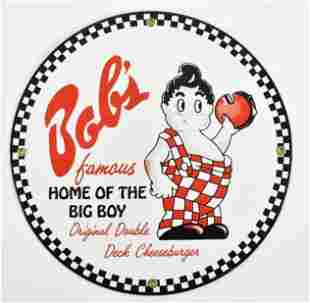 Reproduction Bobs Big Boy Advertising Porcelain Sign