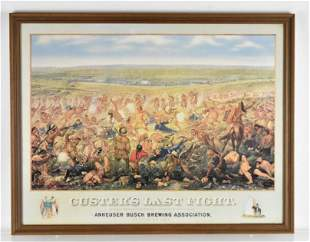 Anheuser Busch Custers Last Fight Advertising Framed