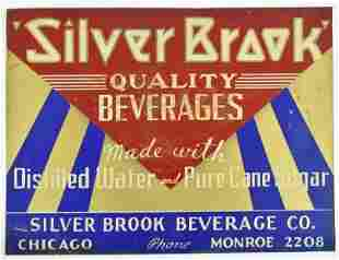 Vintage Silver Brook Advertising Tin Tacker