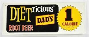 Vintage Dads Diet Root Beer Advertising Metal Sign