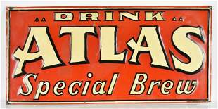 Vintage Atlas Special Brew Advertising Metal Beer Sign