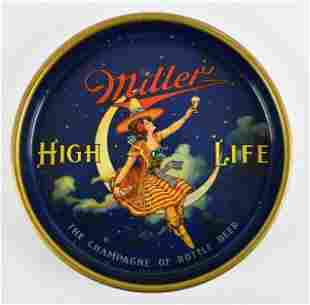 Vintage Miller High Life Girl on the Moon Advertising