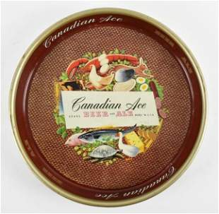 Vintage Canadian Ace Advertising Metal Beer Tray