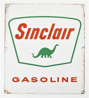 Vintage Sinclair Gasoline Advertising Pump Plate Sign