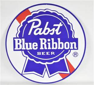 Modern Pabst Blue Ribbon Advertising Tin Sign