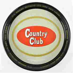 Vintage Country Club Advertising Metal Beer Tray