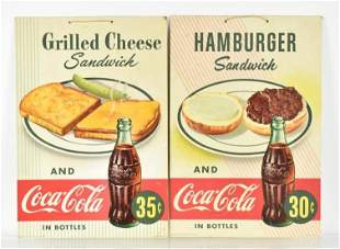 Group of 2 Vintage Coca Cola Advertising Cardboard