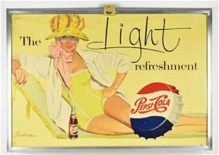 Vintage Pepsi Cola Double Sided Advertising Sign