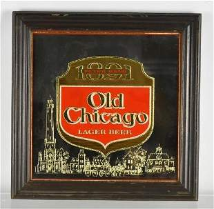 Old Chicago Lager Beer Advertising Mirror