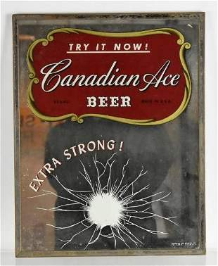 Vintage Canadian Ace Advertising Beer Mirror