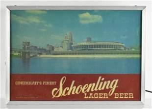 Vintage Schoenling Lager Beer Light Up Motion Sign