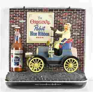 Vintage Pabst Blue Ribbon Light Up Advertising Motion