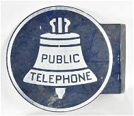 Vintage Bell Systems Public Telephone Flange Sign