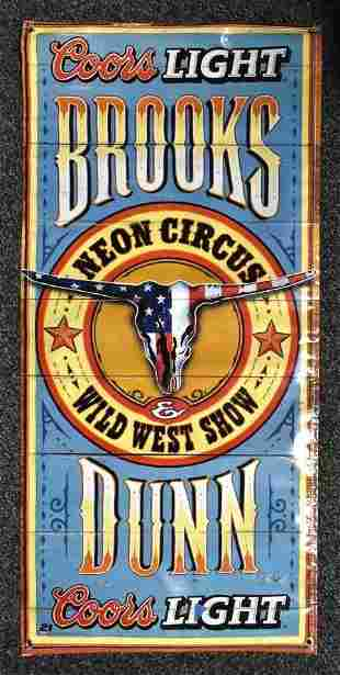 Coors Light Brooks and Dunn Neon Circus Wild West Show