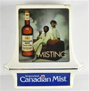 Vintage Canadian Mist Whiskey Light Up Advertising Sign
