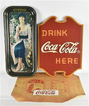 Group of 4 Coca Cola Advertising Items