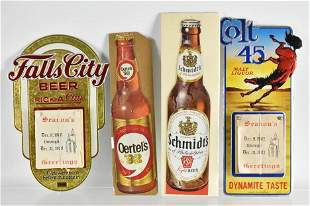 Group of 4 New Old Stock Advertising Signs