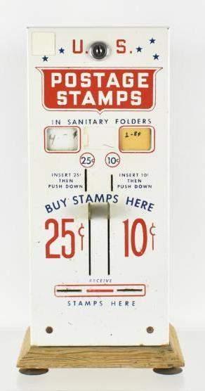 Vintage 25 and 10 Cent US Postage Stamp  Vending