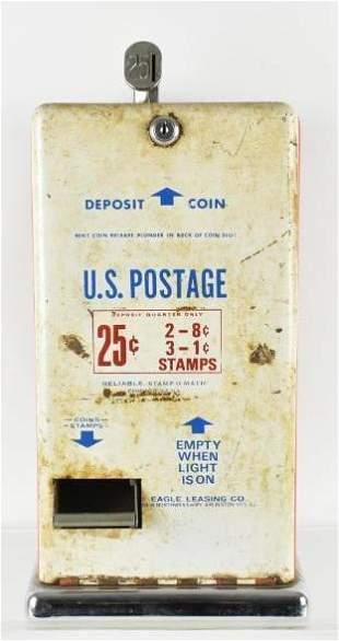 Vintage 25 Cent US Postage Stamp Vending Machine