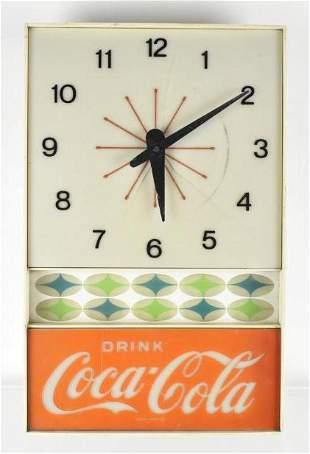 Vintage Coca Cola Advertising Light Up Clock Sign