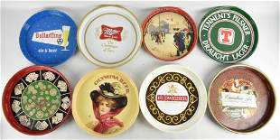 Group of 8 Vintage Advertising Beer Trays