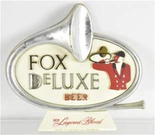 Vintage Fox Deluxe Beer Advertising Sign