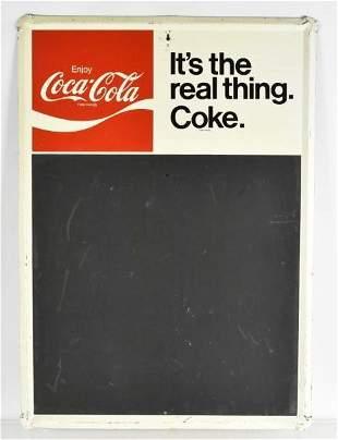 Vintage Coca Cola Advertising Metal Chalkboard Sign