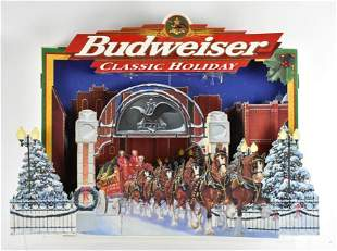 Budweiser Classic Holiday Light Up Cardboard