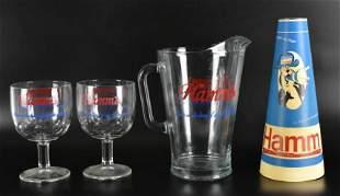 Group of 4 Vintage Hamms Beer Advertising Items