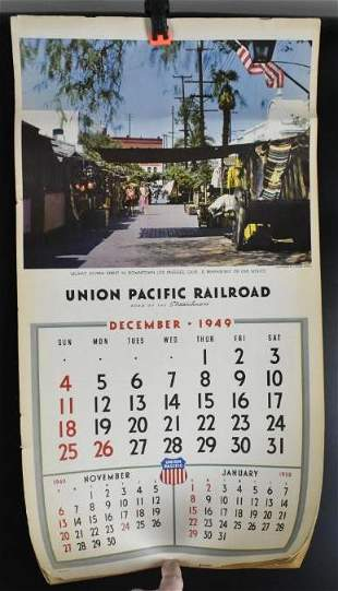 1950 Union Pacific Advertising Railroad Calendar