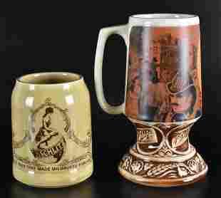 Group of 2 Vintage Schlitz Advertising Mugs