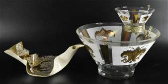 Vintage Chip and Dip Set and Bird Ashtray