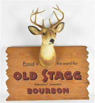 Vintage Old Stagg Bourbon Advertising Stagg Sign