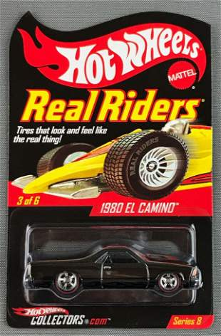 Hot Wheels Real Riders Series 8 1980 El Camino