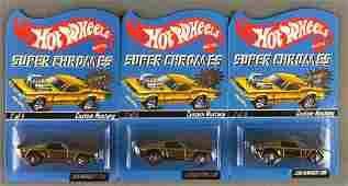 Group of 3 Hot Wheels Super Chromes RLC Rewards Series
