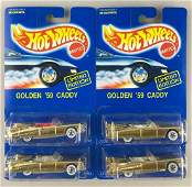 Group of 4 Hot Wheels Limited Edition Golden 59 Caddy
