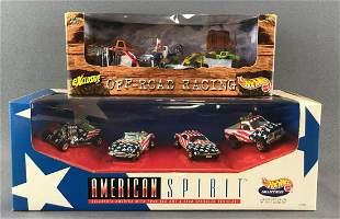 Group of 2 Hot Wheels die-cast vehicle sets in original