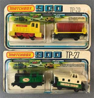 Group of 2 Matchbox 900 die-cast vehicle sets in