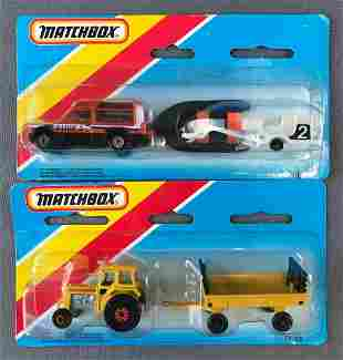 Group of 2 Matchbox die-cast vehicle sets in original