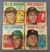 Group of 4 1970 Topps baseball posters