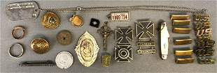 40 piece group vintage pins, jewelry, and more