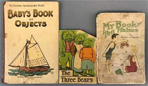 Group of 3 vintage and antique childrens books