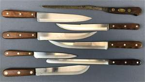 Group of 8 : Vintage Knives w/ Wooden Handles