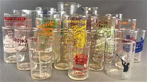 26 piece group vintage advertising measuring/mixing