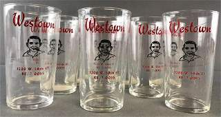 10 piece group vintage Westown advertising drinking
