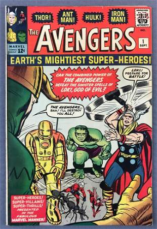 Marvel Comics The Avengers No. 1 Comic Book