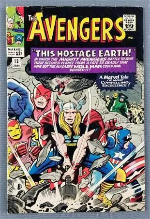 Marvel Comics The Avengers No 12 comic book