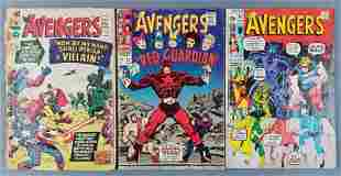 Group of 3 Marvel Comics The Avengers comic books