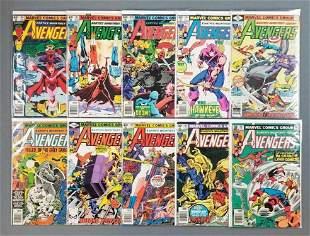 Group of 10 Marvel Comics The Avengers comic books