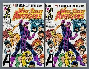 (2) Marvel Comics West Coast Avengers comic books